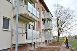 "WIESBADEN, Germany - When the $12 million Whole Neighborhood Revitalization project in Wiesbaden's Aukamm Housing wraps up early next year, 84 ""right-sized"" apartment units will be available to incoming families. Quality-of-life enhancements include new kitchens, flooring, appliances, various other features and expansion to meet the Army standard for space allocation to military families."