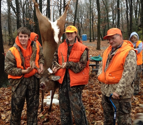 First time hunter, Don Williams with his 11-point buck.