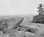 The View from the ridge along Little Round Top.