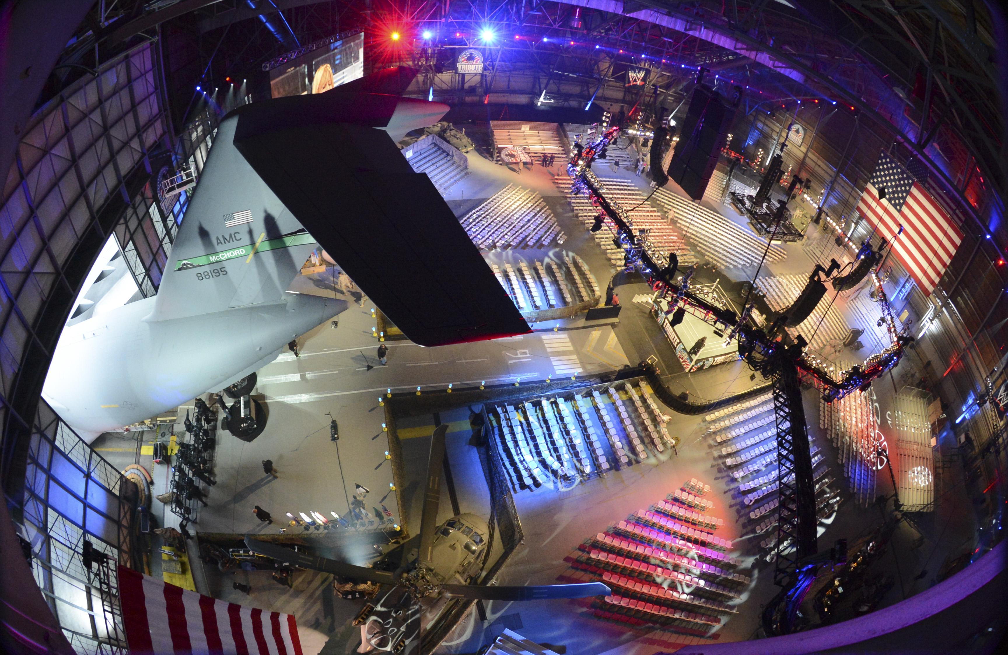 Hangar 4 transformed for WWE