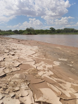 "ALBUQUERQUE, N.M., -- 2013 Photo Drive submission. Photo by Ariane Pinson, Aug. 15, 2013. ""Low flow on the Rio Grande."""