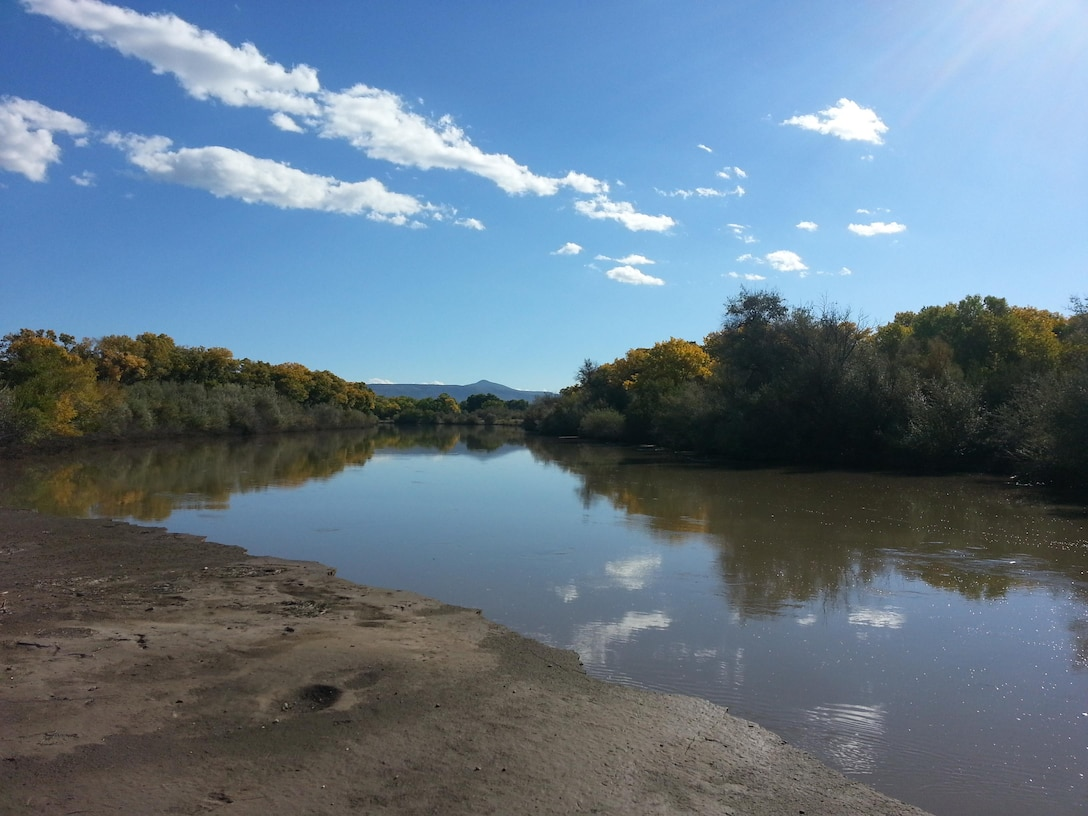 """ALBUQUERQUE, N.M., -- 2013 Photo Drive submission. Photo by Marcos Rosacker, Oct. 10, 2013.  """"The Rio Grande looking upstream from Pueblo de Cochiti lands at Peralta Canyon."""""""