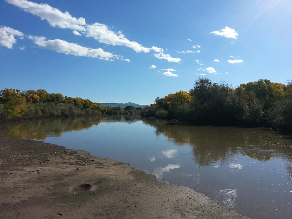 "ALBUQUERQUE, N.M., -- 2013 Photo Drive submission. Photo by Marcos Rosacker, Oct. 10, 2013. ""The Rio Grande looking upstream from Pueblo de Cochiti lands at Peralta Canyon."""