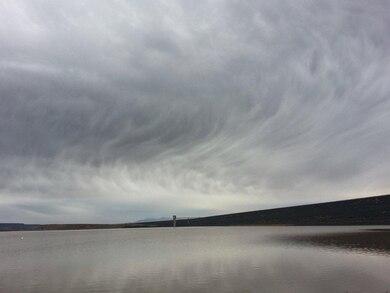 """Cochiti Lake as seen from the Cochiti Swim Beach"" Photo by Marcos Rosacker, October 2013."