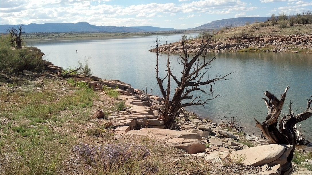 """ABIQUIU LAKE, N.M., -- Entry in the District's 2013 photo drive. Photo by Marcy Leavitt, October 2013. """"View of Abiquiu Lake"""""""