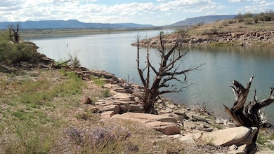 "ABIQUIU LAKE, N.M., -- Entry in the District's 2013 photo drive. Photo by Marcy Leavitt, October 2013. ""View of Abiquiu Lake"""
