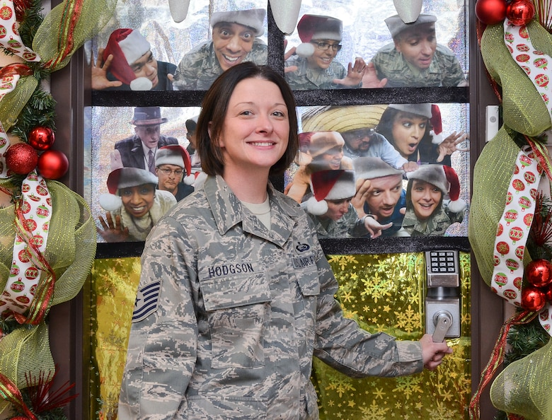 """Tech Sgt. Linda Hodgson, 12th Air Force (Air Forces Southern) Theater Operations Group/ Air Expeditionary Group personnel liaison, """"I'm thankful for family, friends and being able to spend time with them this holiday season. After being away from both during previous holiday seasons it definitely makes you value the time that you have with your loved ones."""" (U.S. Air Force photo by Staff Sgt. Adam Grant/Released)"""