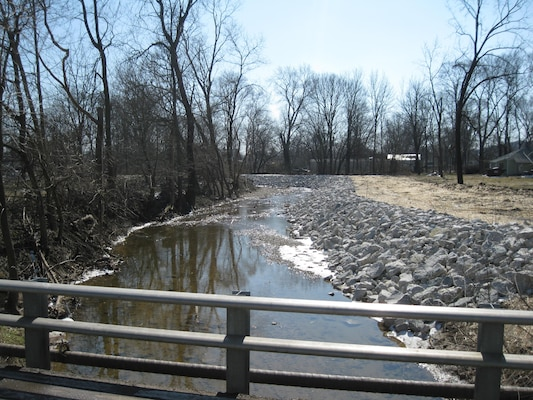The Feather Creek channel was widened as part of a flood risk management project.
