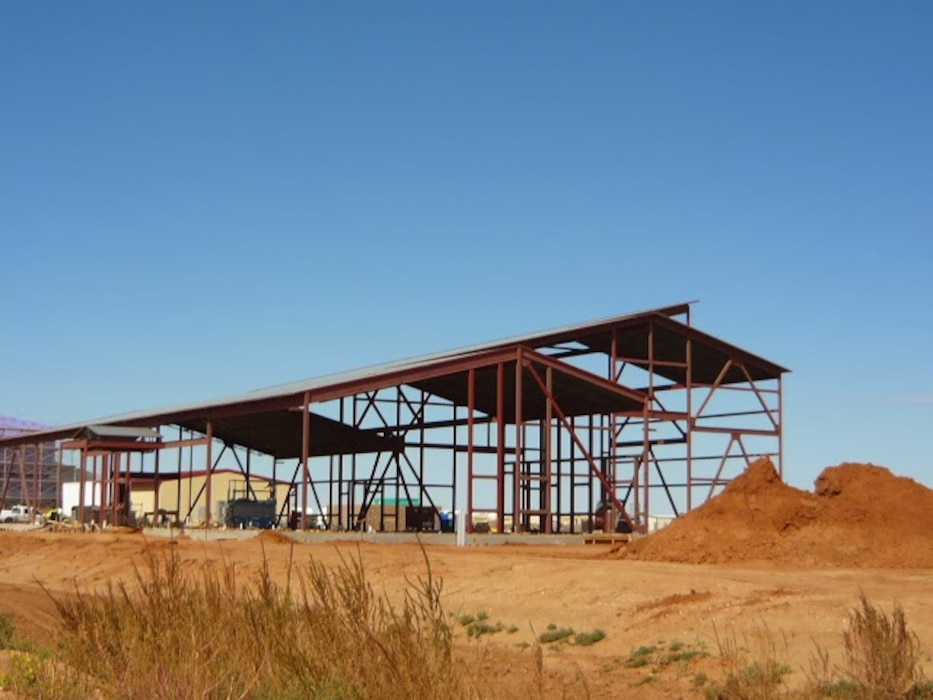 """Facility under construction that was designed by the Albuquerque District"" Photo by Daniel Garcia."