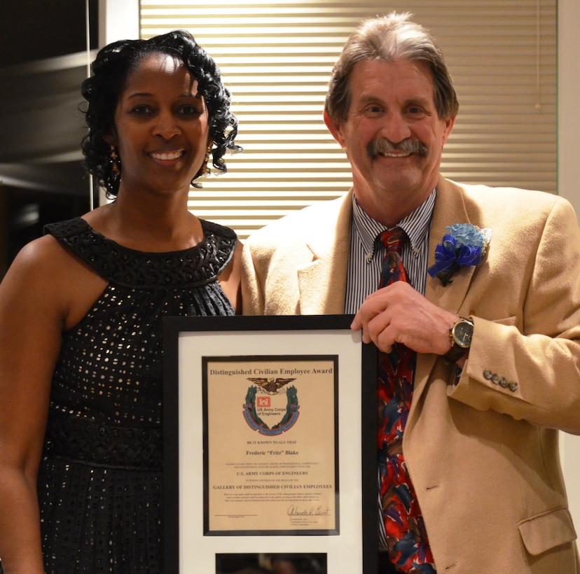 """ALBUQUERQUE, N.M., -- Frederic """"Fritz"""" Blake was inducted into the District's Gallery of Distinguished Civilian Employees, Dec. 6, 2013."""