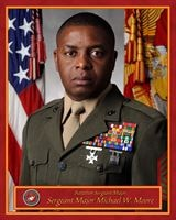 Sergeant Major Michael W. Moore, Headquarters and Service Battalion sergeant major