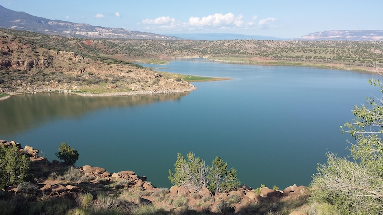 """ABIQUIU LAKE, N.M., -- Entry in the District's 2013 Photo Drive. Photo by Mandy Boothe, Aug. 26, 2013. """"View of Abiquiu Lake"""""""