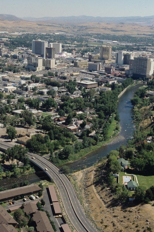 The Truckee River flows through downtown Reno, Nev.
