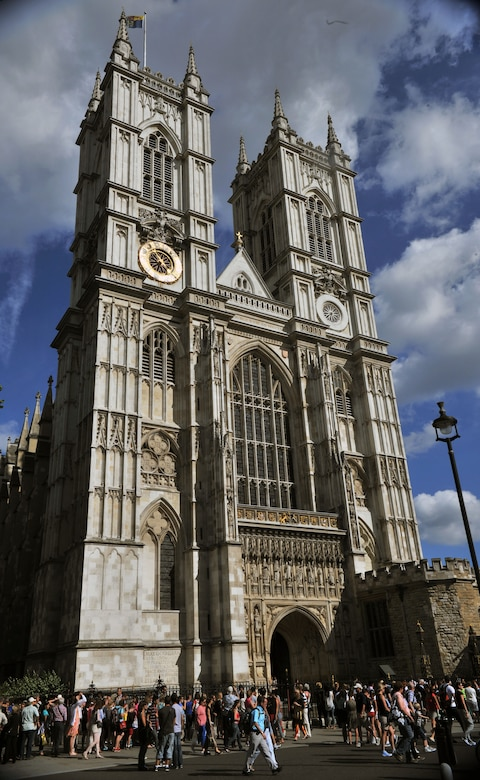 Located in London and a stones-throw from Big Ben, Westminster Abbey is one of the most recognized Gothic buildings in the United Kingdom.  A number of famous people are buried in the Abbey to include Geoffrey Chaucer, the author of the Canterbury Tales, and Sir Winston Churchill, the British Prime Minister during World War II. (Courtesy Photo by Airman 1st Class Kyla Gifford/Released)