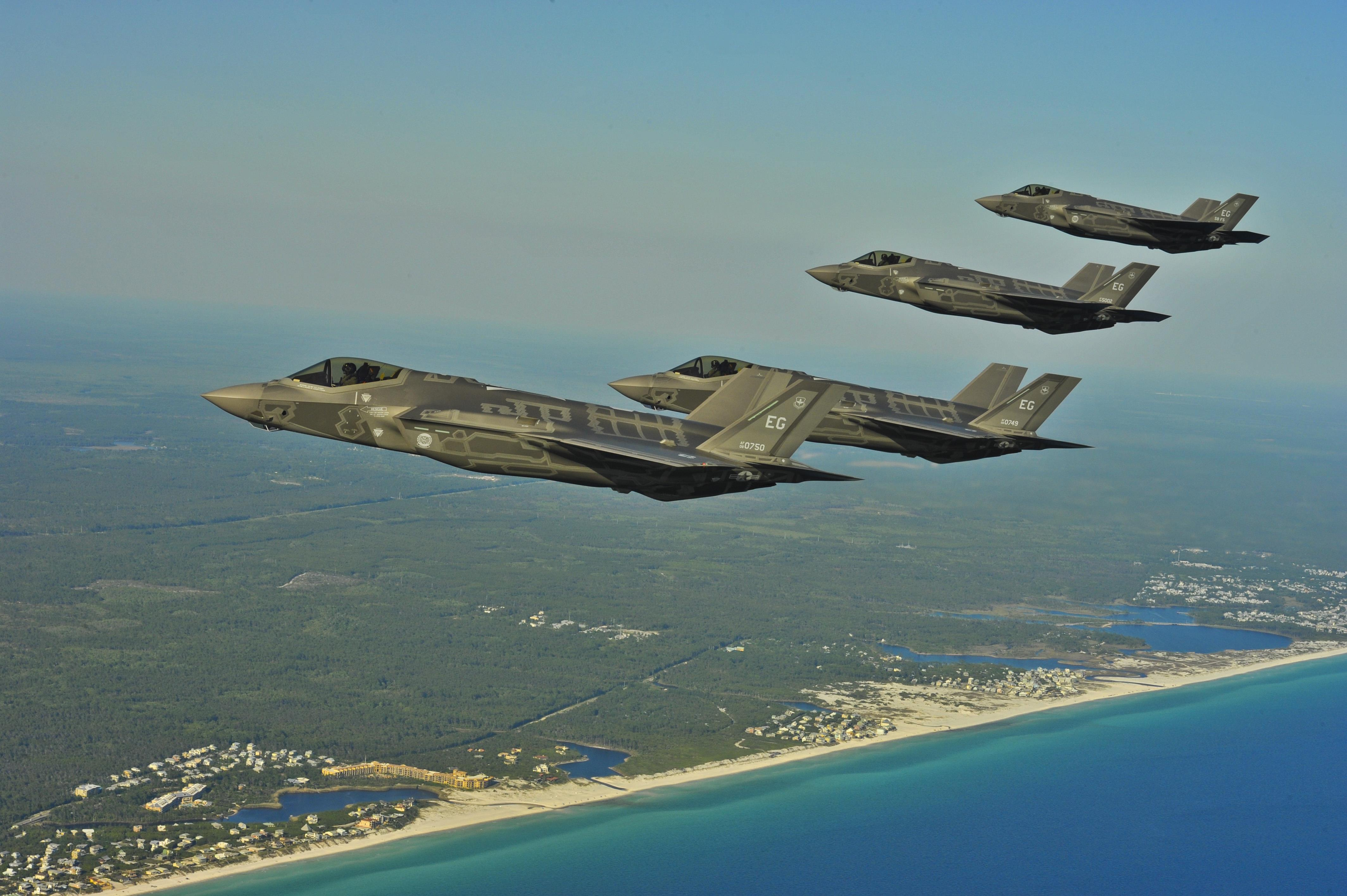 Aerial refueling of F-35 Lightning II Joint Strike Fighters