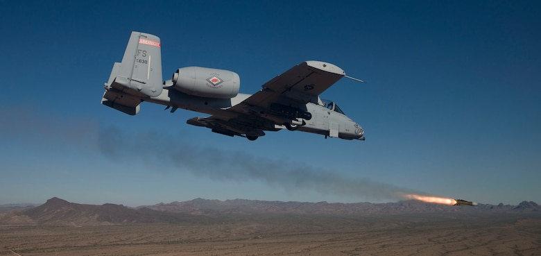 An A-10C Thunderbolt II with the 188th Fighter Wing, Arkansas Air National Guard conducts close-air support training Nov. 21, 2013, near Davis-Monthan Air Force Base, Ariz. (U.S. Air Force photo/Jim Haseltine)