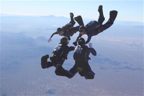 Cadets from the Air Force Academy's Wings of Blue parachute team will dive for another national championship Dec. 27-Jan. 2 at the 2013 National Collegiate Parachuting Championships In Lake Wales, Fla.