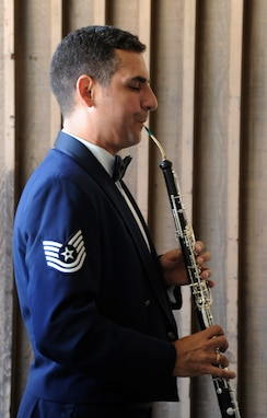 Oboist, Tech. Sgt. Kevin Darrow will perform with the Concert Band's Woodwind Quintet on a Chamber recital at The Lyceum on Mar. 9. (AF photo by Staff Sgt. Corenthia Fennell)