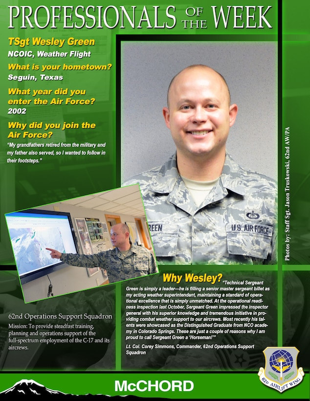Tech. Sgt. Wesley Green (U.S. Air Force graphic/Staff Sgt. Frances Kriss)