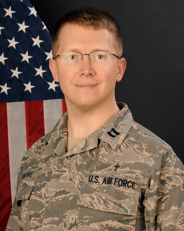 Portrait of Chaplain, Capt. Benjamin McEntire, with the 169th Fighter Wing at McEntire Joint National Guard Base, S.C., Jan. 10, 2013.(National Guard photo by Tech. Sgt. Caycee Watson/Released)