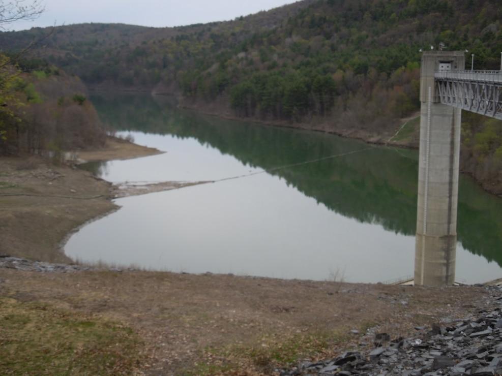 North Hartland Lake dam gatehouse
