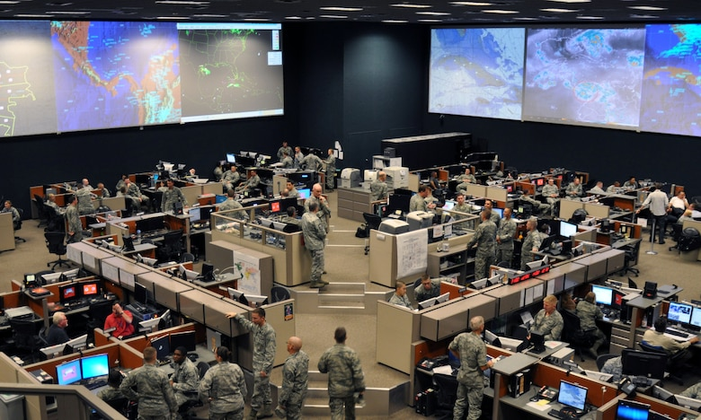 The 612th Air and Space Operations Center provides command and control of air and space power in USSOUTHCOM's area of responsibility, to include 31 countries covering a sixth of the world's land mass. The $55 million facility, which spans 26,750 square ft., operates 24-hours-a-day to support joint and coalition efforts in the Caribbean, Central America and South America. (U.S. Air Force photo by Capt. Justin Brockhoff / Released)