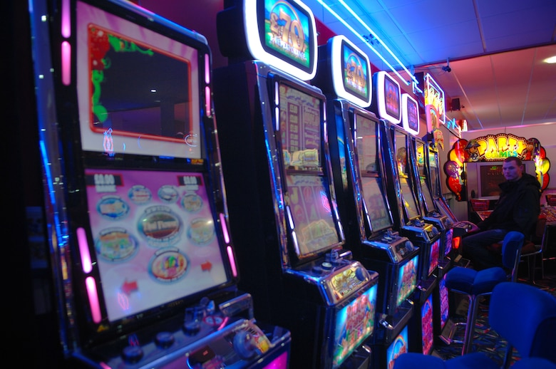 Included in most of the arcades in Great Yarmouth is a gambling area for the adults. Most arcades are named after Las Vegas casinos. (U.S. Air Force photo by Airman 1st Class Dillon Johnston/Released)