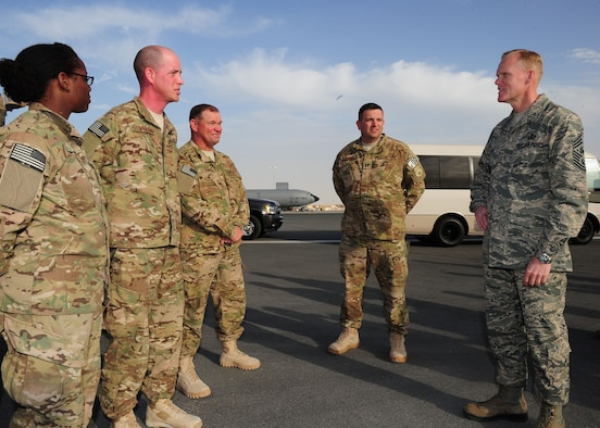 the responsibility of the chief master sergeants of the air force Offutt air force base, neb -- chief master sergeant  to give acc's newest chief master sergeants a peek at what is going  their next level of responsibility.