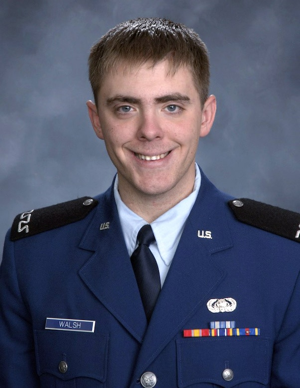 Cadet 4th Class James Walsh, pictured here, was found dead in the Air Force Academy Cadet Area Feb. 9, 2013. (U.S. Air Force photo)