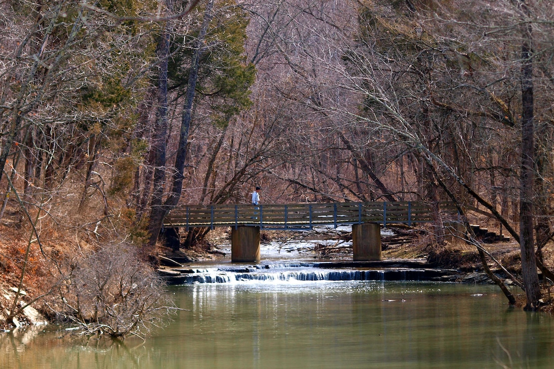 Stream bridge at Caesar Creek Lake