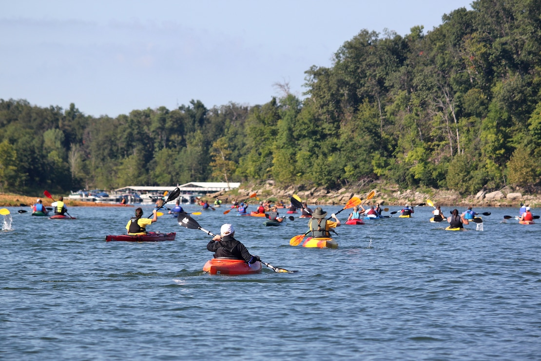 Kayakers at Rough River Lake