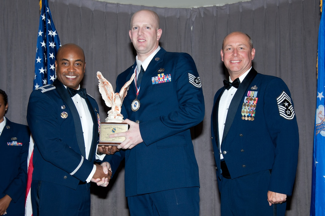 The 42nd Air Base Wing Annual Awards Banquet, with presentations by wing commander Col. Trent Edwards and command chief Chief Master Sgt. Garth Meade, was held at the Maxwell Club on Jan. 25, 2013. (US Air Force photo by Melanie Rodgers Cox)
