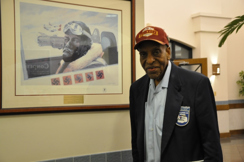 RANDOLPH AIR FORCE BASE, Texas – Dr. Granville Coggs, a documented original Tuskegee Airman, made history when he signed up to be a member of the Army Air Corps. He answered the national call as an aerial gunner, bombardier and pilot. (U.S. Air Force photo/ 1st Lt. Leanne Hedgepeth)