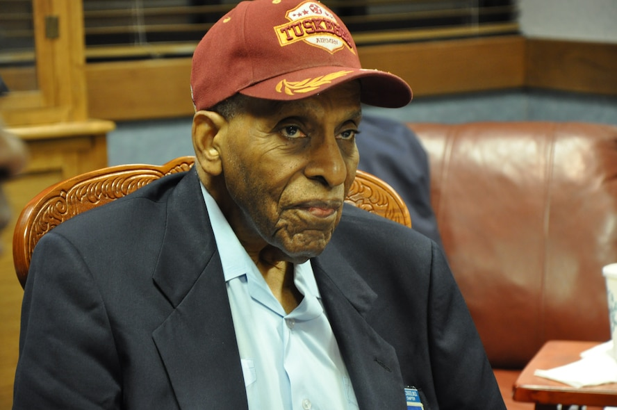RANDOLPH AIR FORCE BASE, Texas – Dr. Granville Coggs, a documented original Tuskegee Airman, served in the Army Air Corps from 1943 to 1946. During these years he trained as a bombardier and pilot on the B-25 bomber. (U.S. Air Force photo/ 1st Lt. Leanne Hedgepeth)