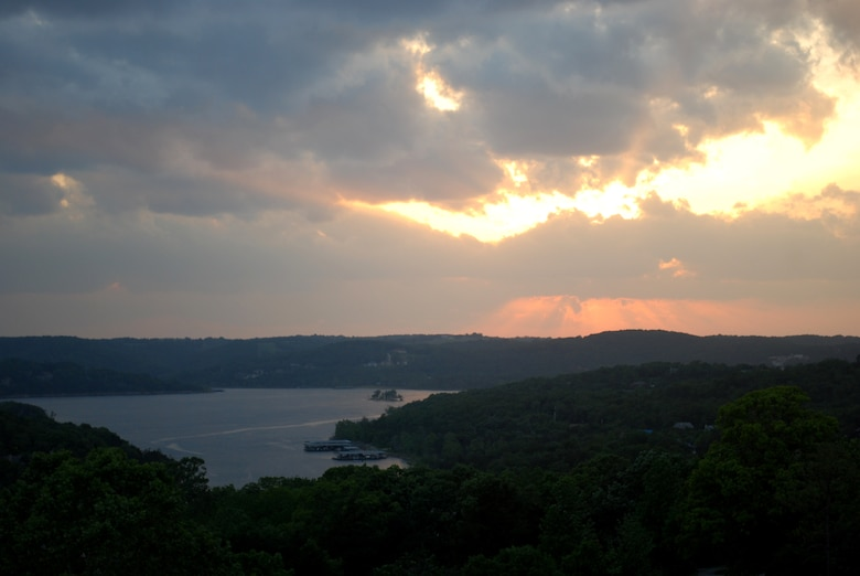 Sunset Over Table Rock Lake 2012