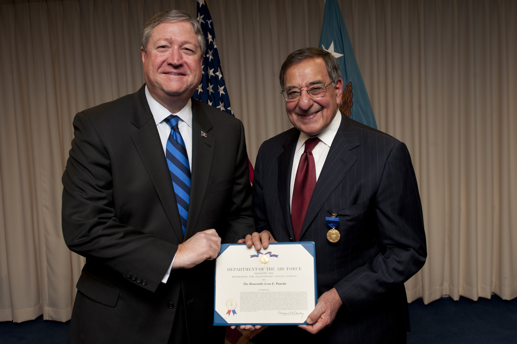 Secaf Presents Panetta With Exceptional Civilian Service Award