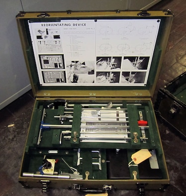 This X-ray unit was manufactured by Westinghouse Electric & Manufacturing Co. and was used to locate foreign objects in human patients. (U.S. Air Force photo)