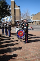 Marine Corps Base Quantico band performs during the fifth annual Armed Forces Community Covenant signing at Market Square in Alexandria on Monday. The band performed for representatives from Marine Corps Base Quantico, Fort Belvoir, the Military District of Washington, the Naval Support Activity, local leaders and the public.