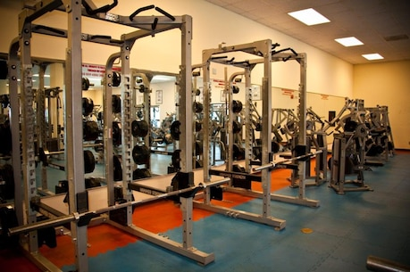 Gym interior – weight room equipment