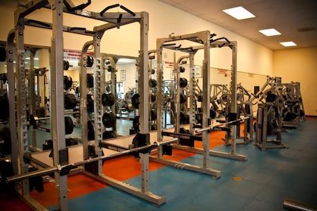 Gym interior – weight room equipment
