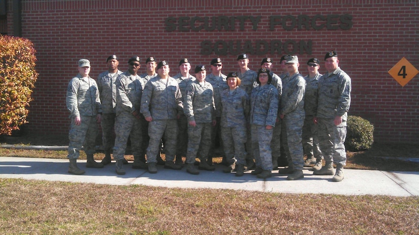 Minnesota Air National Guard Airmen from the 133rd Security Forces Squadron recently completed a two-week training exercise at Joint Base Charleston, S.C. The 133rd SFS Airmen received active-duty experience by training with the 628th Security Force Squadron. (Courtesy photo)