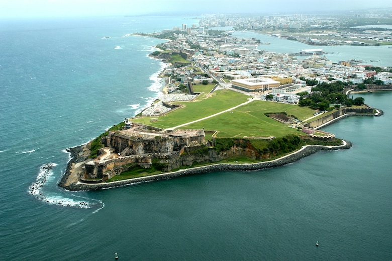 Castillo San Felipe del Morro, a World Heritage Site on the northernmost point of Puerto Rico, was built in the 1500s to defend the port of San Juan and control access to the harbor.