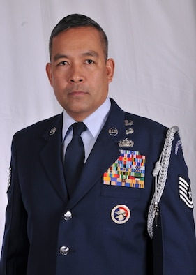 Technical Sgt. Bonifacio M. Tee III, 166th Security Forces Squadron, 166th Airlift Wing, is the Delaware Air National Guard Outstanding Honor Guard Member of the Year for FY2012. (U.S. Air Force photo/Staff Sgt. Nathan Bright)