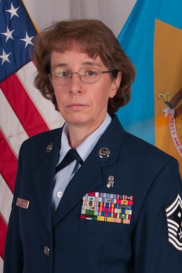 Senior Master Sgt. Kathleen Walsh-Shell, 166th Medical Group, 166th Airlift Wing, is the Delaware Air National Guard Outstanding First Sergeant of the Year for FY2012. (U.S. Air Force photo/Tech. Sgt. Rob Meredith)