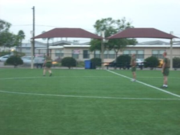 CLC-11 Marines playing soccer