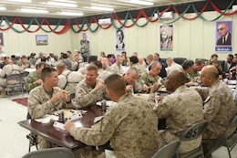 The commander of Regional Command Southwest held a farewell dinner at the Afghan Cultural Center here, Feb. 24.