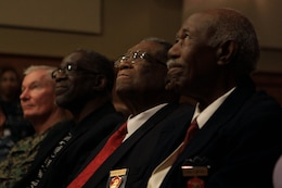 """Honored guests were given a presentation of the March on Washington for Jobs and Freedom of that is also referred to as """"The Great March on Washington"""" during the 2013 Black History Month program held at the naval hospital here Feb. 26."""