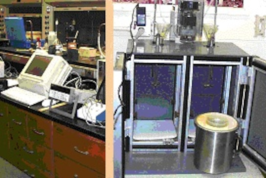 Calorimetry instrumentation for analyzing cement reaction rates and effects of admixtures.