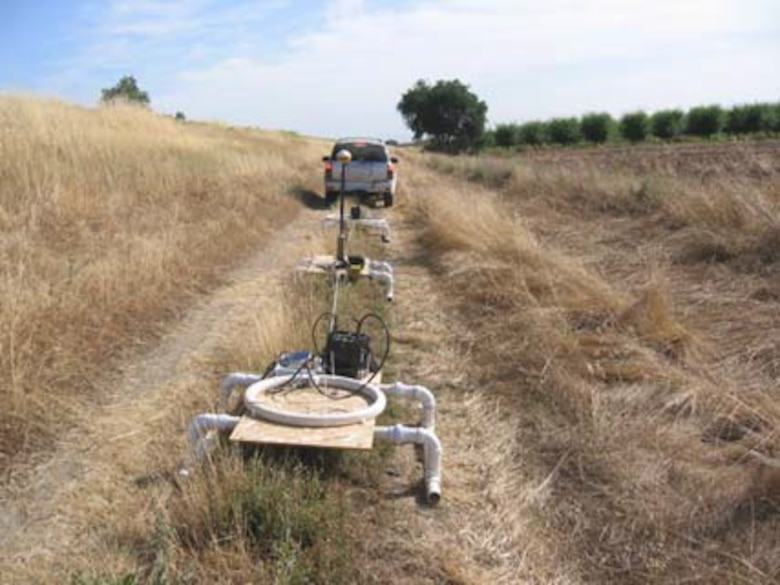 Geophysical survey along levee toe, Feather River, California.