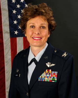 Portrait of Col. Theresa Prince, the commander of the 169th Medical Group at McEntire Joint National Guard Base, S.C., Dec. 13, 2012.  (National Guard photo by Senior Master Sgt. Edward Snyder/Released)